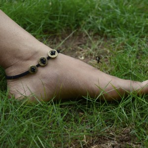 Dhokra Anklet Buttons
