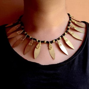Dhokra Necklace leaf series